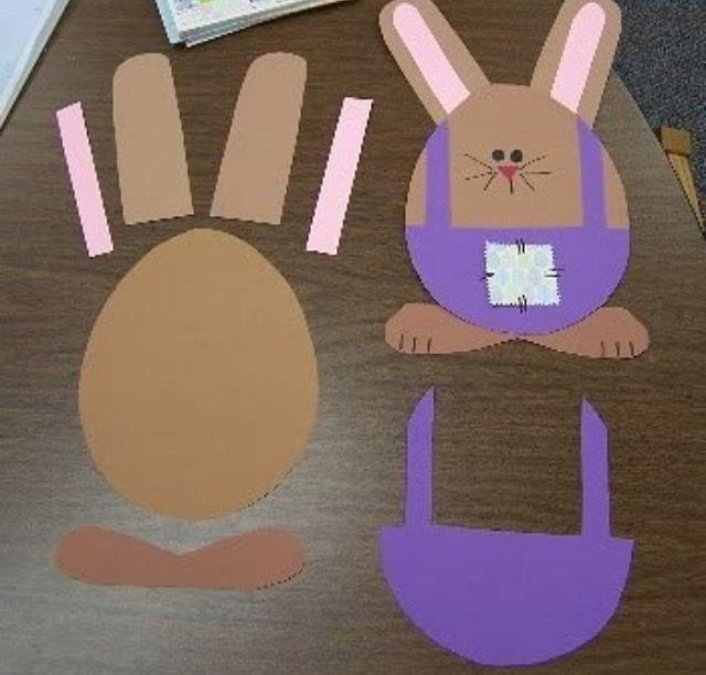 Okul öncesi sanat etkinlikleri tavşan