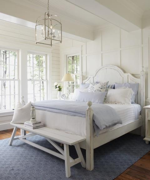 Coastal bedroom with cottage style decor