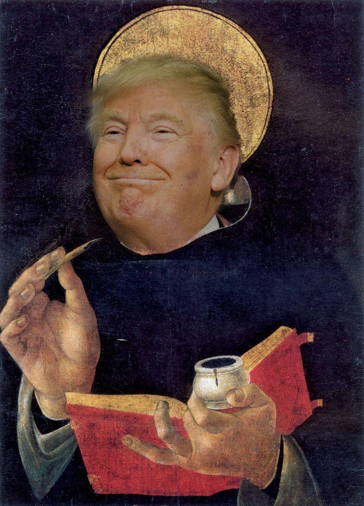 Donald Trump in San Tommaso d'Aquino on Behance