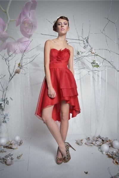 Rose - asymetryczna sukienka koktajlowa | Milita Nikonorov oficjalny butik projektantki