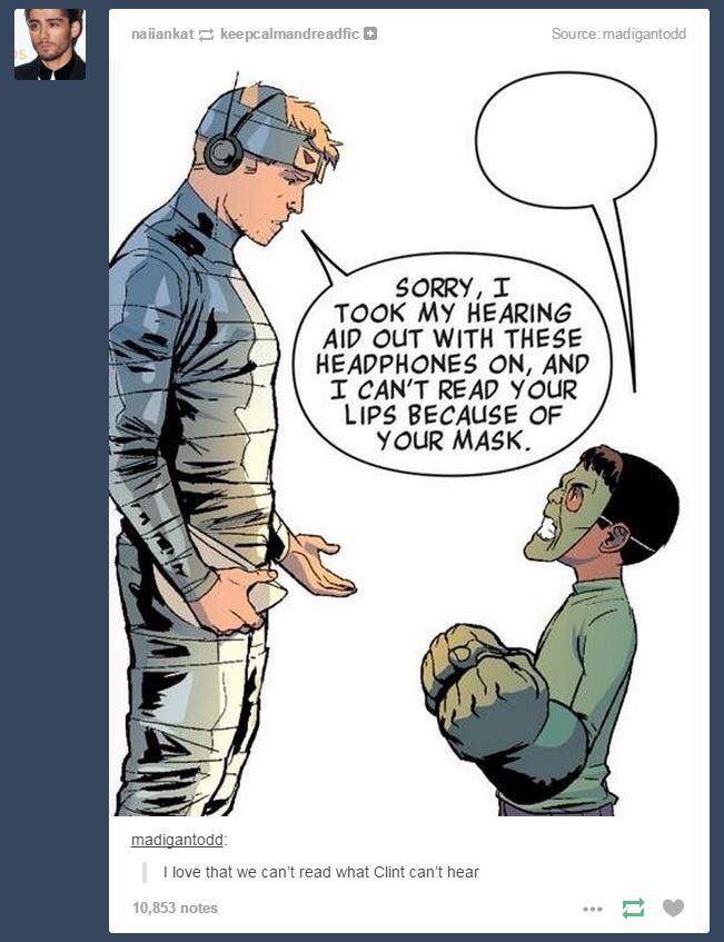 Imagine if the avenger's hawkeye is deaf too❤️❤️