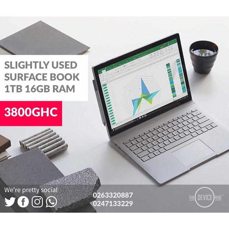 SLIGHTLY USED  MICROSOFT SURFACE BOOK 1TB 16GB RAM PRICE:3800GHC  TO ORDER  CALL: 0263320887/0230357751/0247133229 WHATSAPP: 0263320887 IMESSAGE: Jason.eliphalet@icloud.com  always demand an e-receipt after purchase  WE DELIVER NATIONWIDE  #Kumasi #Accra #Ho #Sunyani #CapeCoast #Takoradi #Tamale #koforidua #Wa  #Bolgatanga #Tarkwa