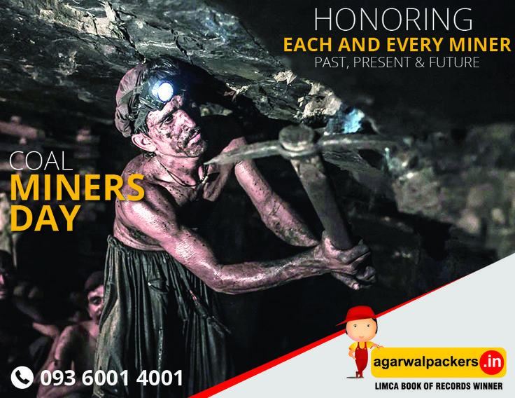 ***Coal Miners Day*** The annual celebration of Coal Miners Day is held every 11th June. Let them support to celebrates #CoalMinersDay  #Coal #Miners #spirit #Packers #Movers #Agarwal #Residential #Offering #Householdpackers #Bangalore #Delhi #Mumbai #pune #hyderabad #Gurgaon #india #FreeMovingQuote...