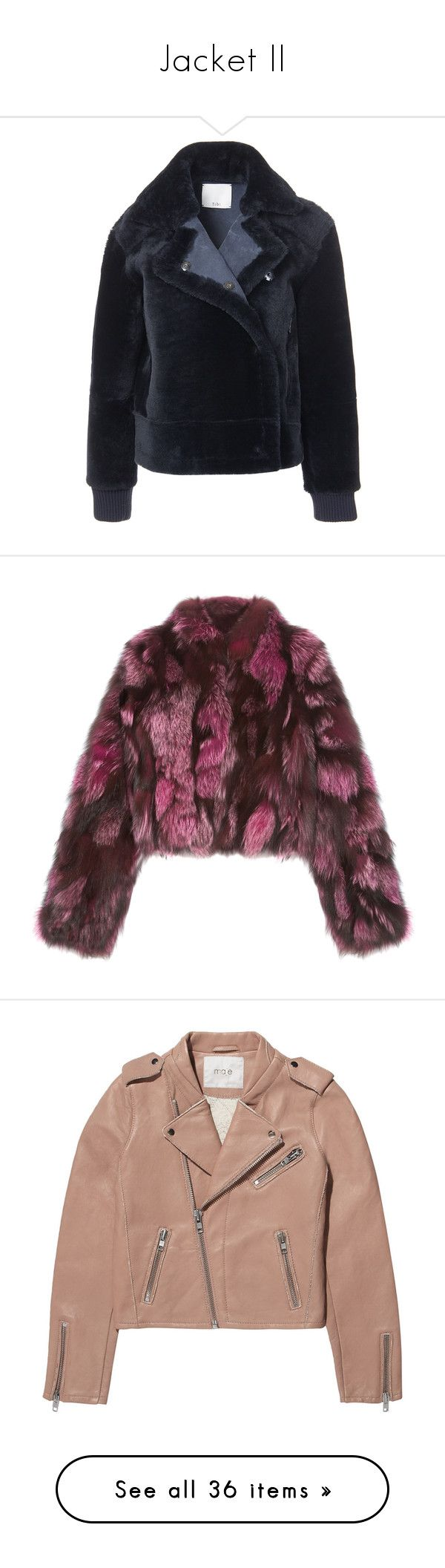 """Jacket II"" by feelin-q ❤ liked on Polyvore featuring outerwear, jackets, midnight navy, aviator jackets, shearling aviator jacket, navy jacket, blue jackets, tibi, coats and coats & jackets"