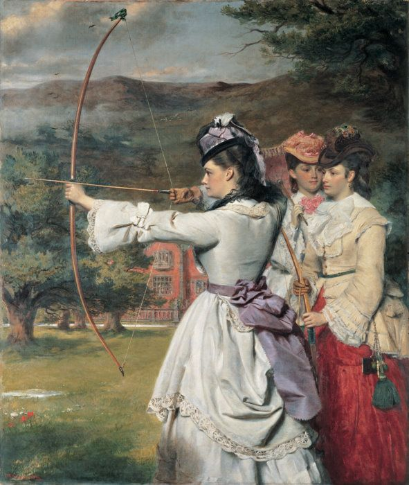 K. M. Newton on 'The Fair Toxophilites: English Archers' by W. P. Frith and 'Daniel Deronda' by George Eliot.
