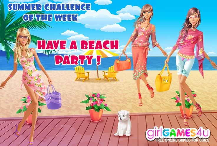 Summer #challenge of the week! #Summer is the best time to #party!*** #Game's link: http://www.girlgames4u.com/seaside-beauty-game.html ✿ ✿ ✿