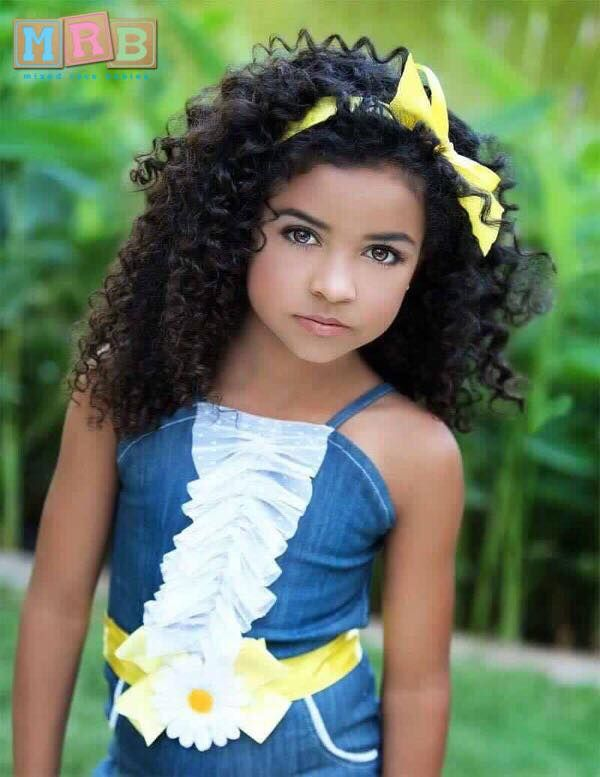 Black, Mexican & Native | Mixed kids hairstyles, Kids ...