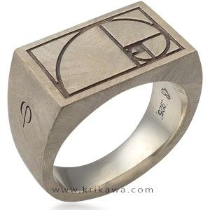As a designer, this ring featuring the 'Golden Spiral/Ratio' is an absolute must.