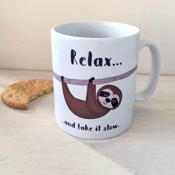 Luiaard beker - mok - grappige mokken - Sloth mokken - grappige mok - mokken - ik hou van luiheid mok - ik hart luiaard mok - Sloth Cup - Sloth Cups - ik hou van luiaards