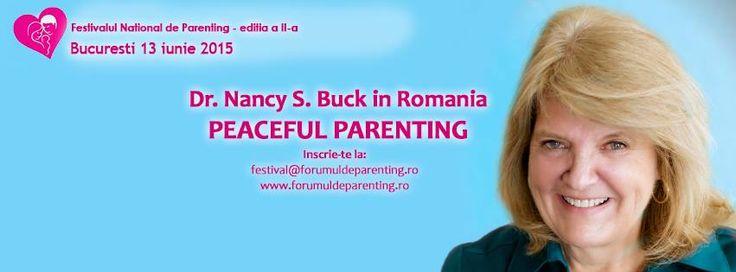Speakerul invitat anul acesta la Festivalul National de Parenting este Nancy S. Buck.  Doctor in dezvoltare aplicata in educatie parentala, Nancy ajuta noile generatii de educatori, parinti si cadre didactice, sa inteleaga si sa actioneze conform modelului Peaceful Parenting, parenting-ul fara cearta si tipete.Cate seri linistite in familie ati avut dupa o zi epuizanta? Nu prea exista asa ceva, nu?     #FestivaluldeParentingRomania20015 #MirelaHorumba #NancyBuck
