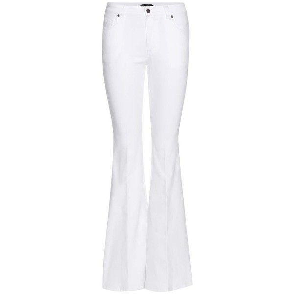 Tom Ford Flared jeans ($990) ❤ liked on Polyvore featuring jeans, white flared jeans, zipper jeans, tom ford, 5 pocket jeans and flare jeans