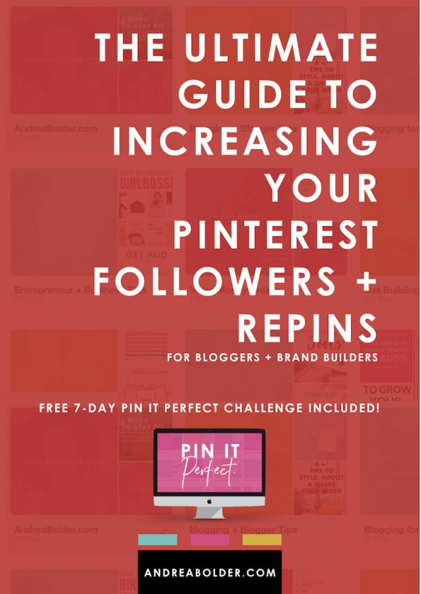 How To Increase Your Followers and Repins on Pinterest - AndreaBolder.com #pinterest #blogtraffic #repins