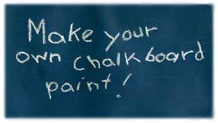 homemadeChalkboards Painting Crafts, Crafts Ideas, Colors Chalkboards, Homemade Chalkboards Painting, Chalkboard Paint, Chalkboards Painting Mixed, Chalk Boards, Diy Chalkboards, Chalkboards Painting Recipe