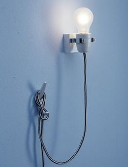 klemlamp: Creatief Diy, Wall Lamps, Spare Bedrooms, Simple Lights, Dit Lamps, Clamp Lamps, Creative With, Cool Lamps, Bedside Lamps