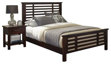 Cabin Creek Queen Bed and Night Stand transitional-bedroom-furniture-sets