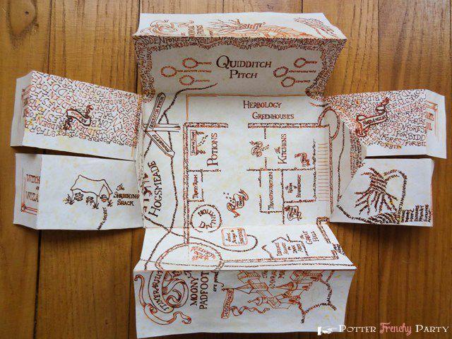 Potter Frenchy Party - Mini marauder's map - Harry Potter DIY - carte du maraudeur - Poudlard - Hogwarts printable