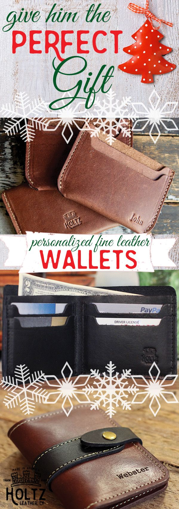 Whether he's a traveler, a homebody, an executive, or a student, we've got great gifts for him. Guys love our fine leather wallets, journals, portfolios, drinkware, keyrings and travel accessories. Every item is handmade with the finest Full Grain Leather, from a southern tannery, to get a rustic look and feel. Your sure to find him a gift that he'll use and love for a lifetime!