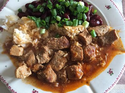 Andreja Being Active, cooking and baking: Pork with rice in tomato sauce