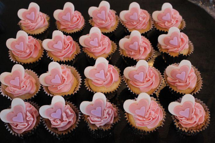Heart cupcakes!