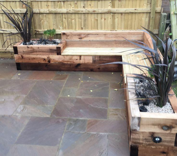Sleeper Seat & Raised Planter Combo