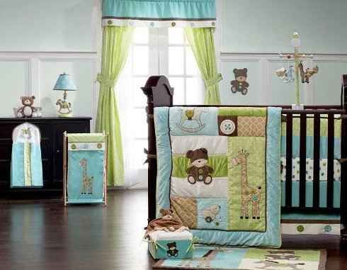 turquoise nursery, baby nurseries, aqua nursery, baby room, crib bedding set