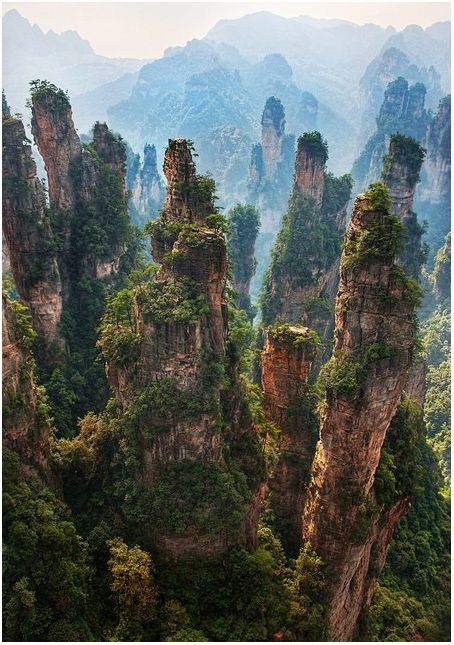 China- I've heard that this mountain range inspired the Hallelujah Mountains from the movie Avatar by James Cameron. How cool is that!