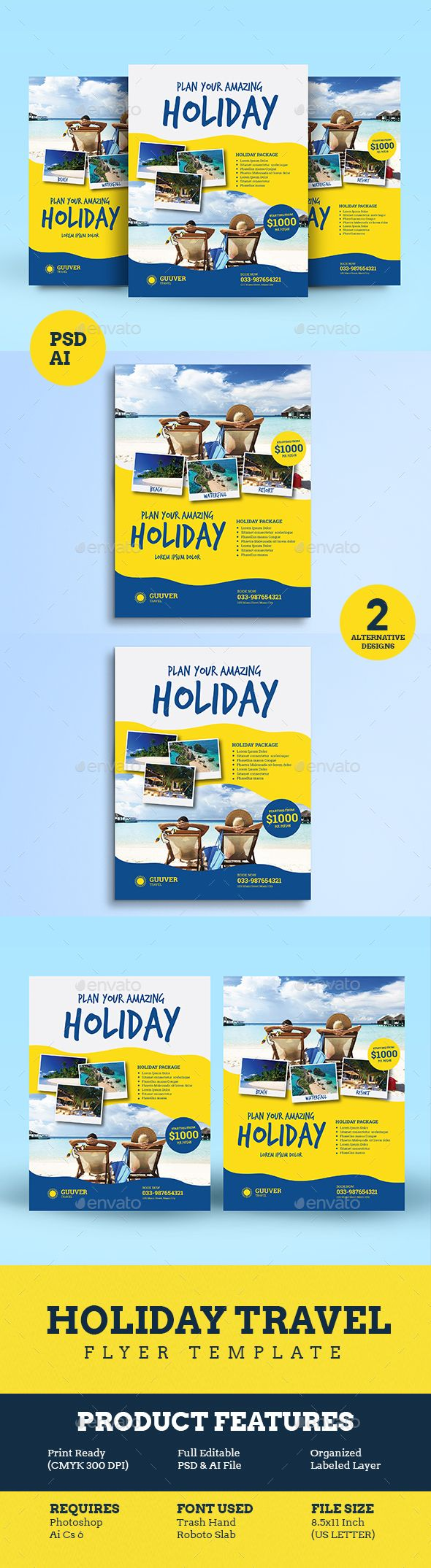 Holiday Travel Flyer Vol 02 - Holidays Events