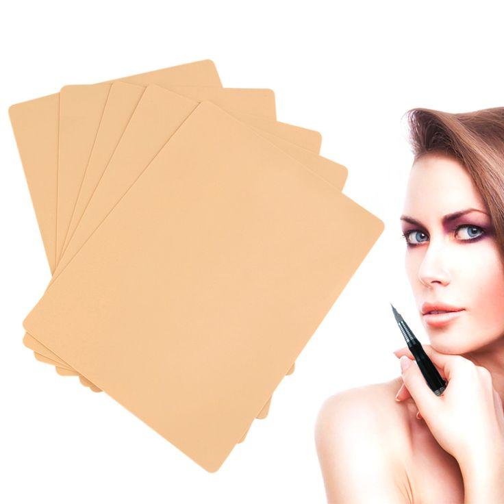 New 5pcs  Permanent Makeup Eyebrow Lips 20 x 15cm Blank Tattoo Practice Skin Sheet for Needle Machine Supply Kit