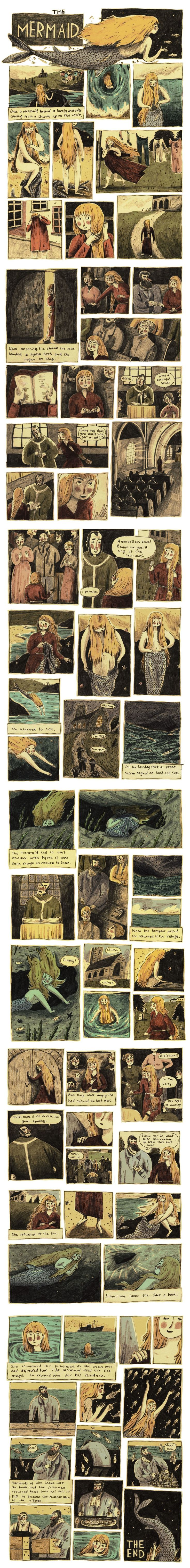 A comic based on the Cornish folktale, The Mermaid of Zennor by Briony May Smith