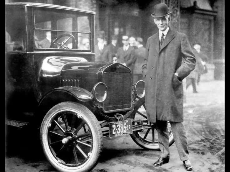 Henry Ford with 1921 Model T.  While other auto makers wanted to design luxury cars Henry Ford designed a car that anyone could afford.  sc 1 st  Pinterest & 24 best Henry Ford images on Pinterest | Henry ford museum ... markmcfarlin.com