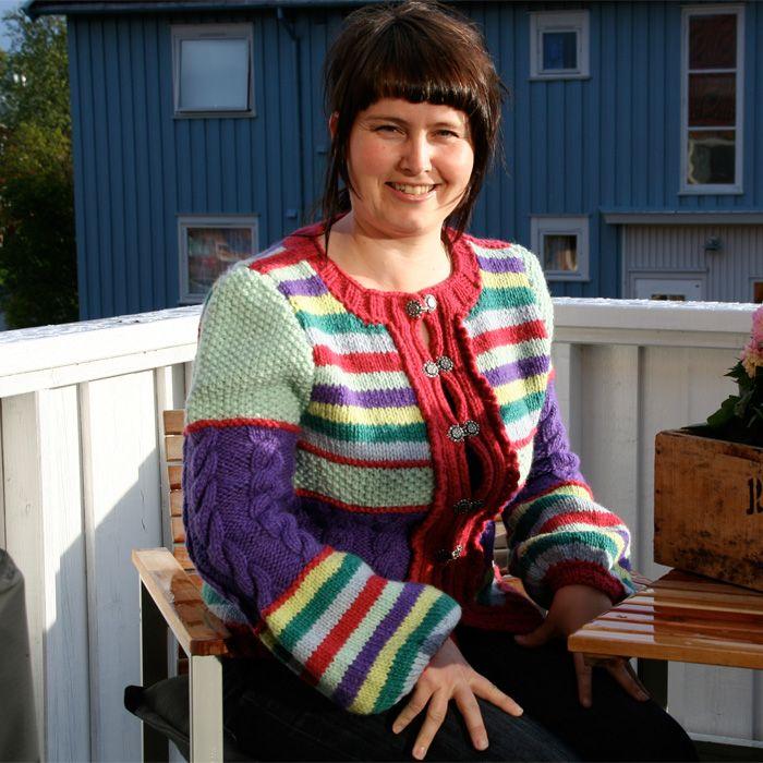 Gratis strikkeoppskrift på Trolljakka
