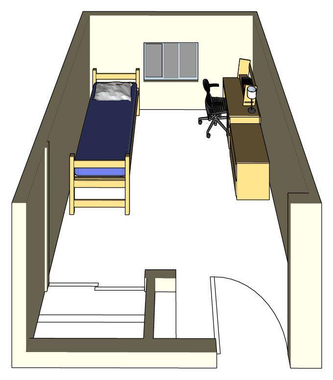 Single Room Occupancy Floor Plans | UC Davis Student Housing: Regan Hall  Room Model: Single Occupancy | DORM | Pinterest | Student House, Hall And  Dorm Part 61