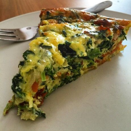 Crustless Bacon, Spinach & Swiss Quiche - Low Carb
