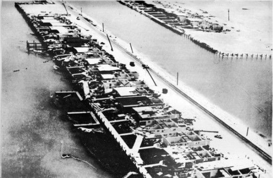 Key Colony Beach after Hurricane Donna 9/1960