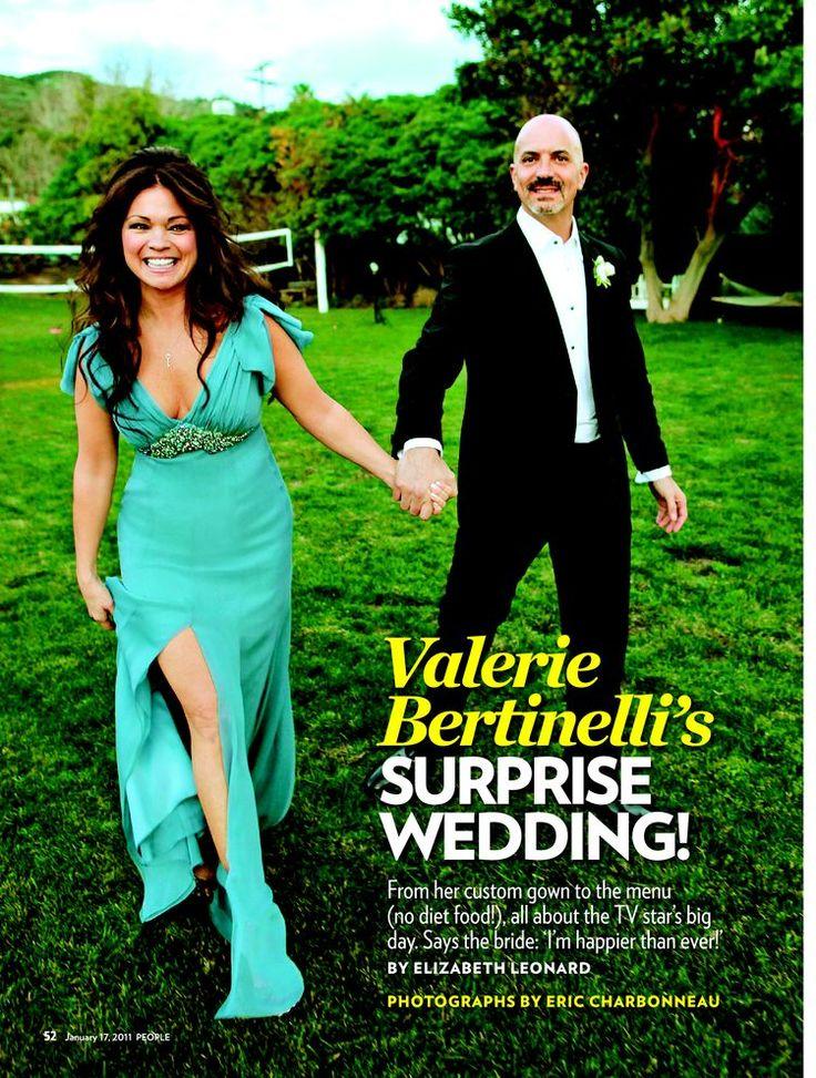 Valerie bertinelli tom vitale gown david meister for Valerie bertinelli wedding dress