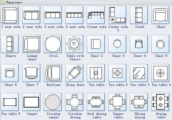 Floor Plan Symbols 2 Furnituredesigns Floor Plan Symbols Floor Plans Dining Room Floor