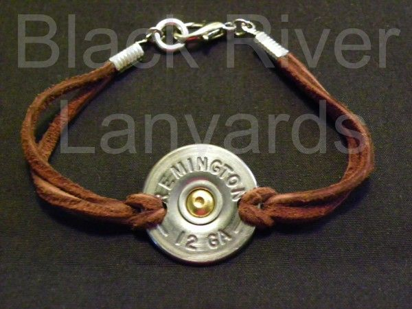 Leather Strap Shotgun Shell Bracelet