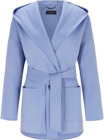 Strenesse Jacke mit Kapuze aus Wolle-Kaschmir-Doubleface