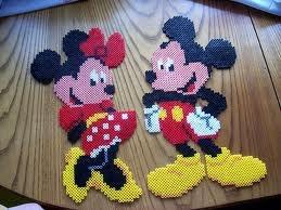Mickey und Minnie / Hama Perlen - perler beads - Bügelperlen