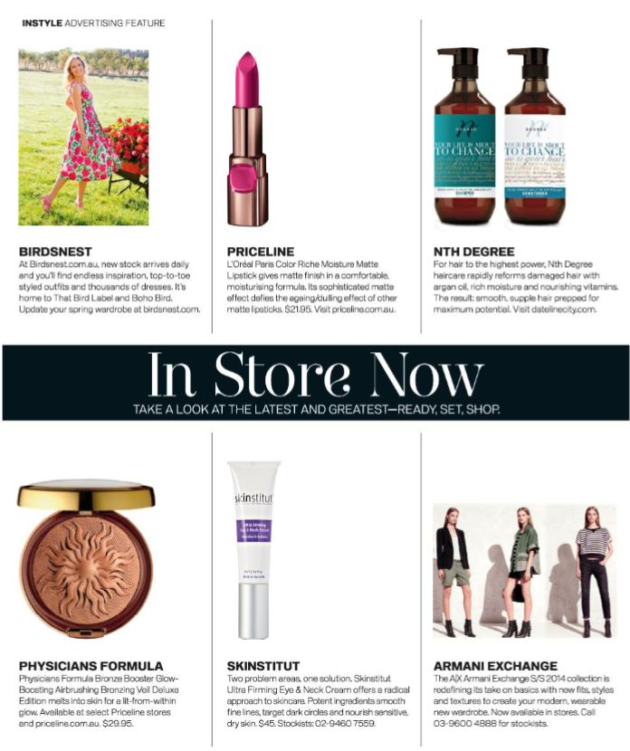 Skinstitut's Ultra Firming Eye & Neck Cream featured in this months Instyle magazine.  'Two problem areas, one solution. Skinstitut's Ultra Firming Eye & Neck Cream offer's a radical approach to skincare. Potent ingredients smooth fine lines, target dark circles and nourish sensitive dry skin.'  Learn more: http://www.absoluteskin.com.au/Skinstitut-Ultra-Firming-Eye-and-Neck-Cream-p/sk10.htm