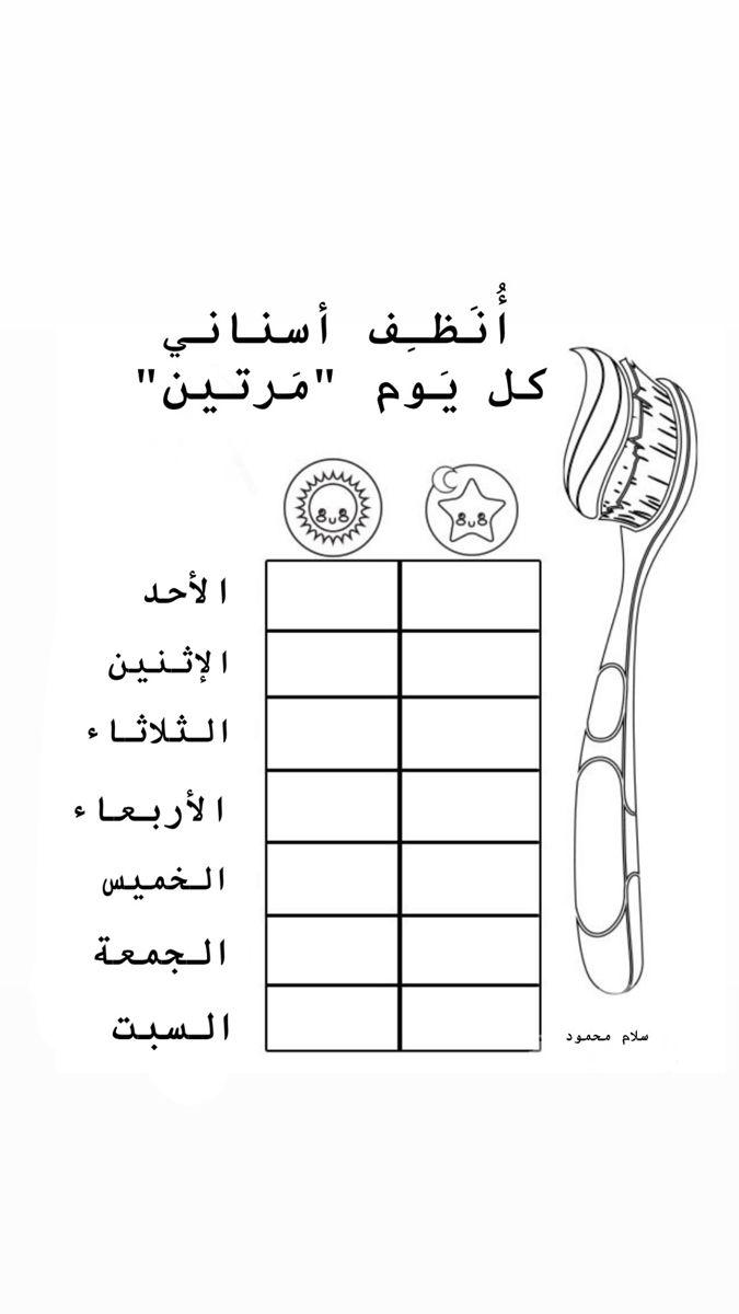 تنظيف الأسنان البرنامج اليومي Math U 3 Math Equations