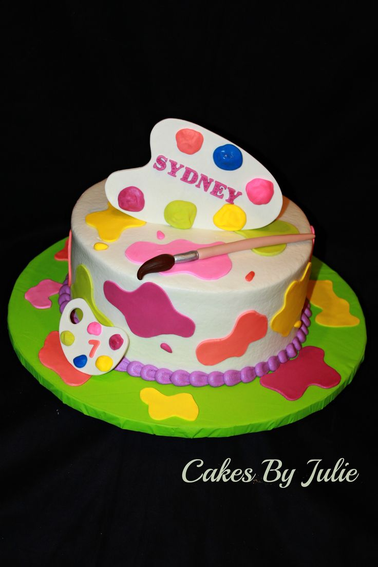 Painter's Palette Cake - Painter's Palette Birthday cake.
