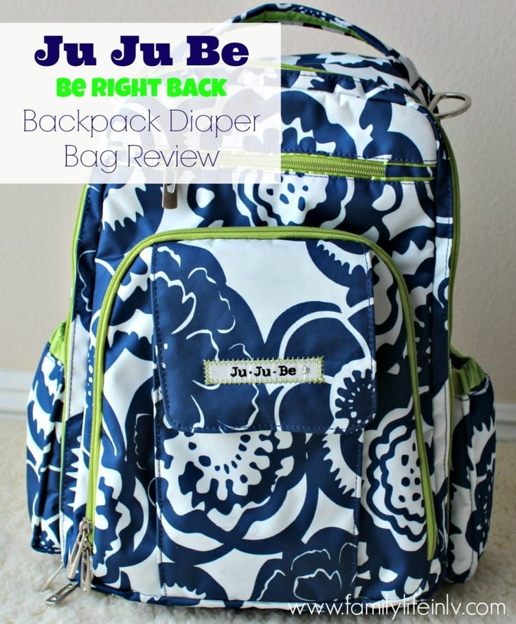 The perfect hands-free diaper bag for moms who need extra space! #clothdiapers #JuJuBe