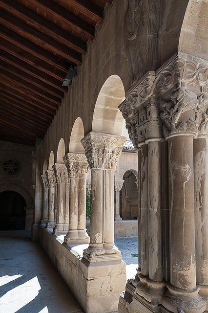 Huesca, Monasterio de San Pedro el Viejo - edificio románico del siglo XII  Spain