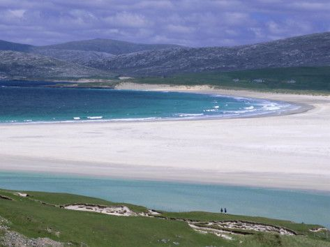 White Shell-Sand, Scarasta Beach, North West Coast of South Harris, Outer Hebrides, Scotland, Photographic Print