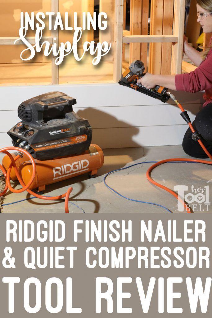 Ridgid Angled Finish Nailer And Compressor Tool Review Finish Nailer Tool Belt Tools