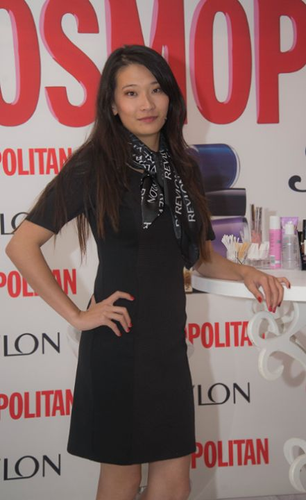 Nail Artist @Chi7_7Chi at the @Revlon South Africa #COSMOpolished workshop in Cape Town with @Cosmopolitan SA