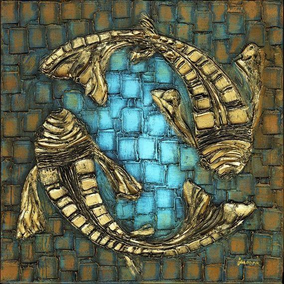 Koi Fish Painting: Fish Abstract, Modern Fine, Abstract Art, Koi Fish, Art Prints, Fine Art, Large Modern, Fish Paintings, Art Large