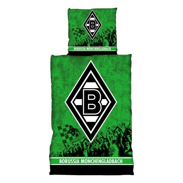 Bettwäsche Fans Borussia Mönchengladbach - Bundesliga, Schlafzimmer, Bett, Fanartikel, Fußball, Soccer - http://www.multifanshop.de