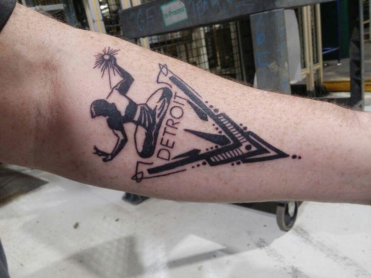 Spirit of Detroit tattoo